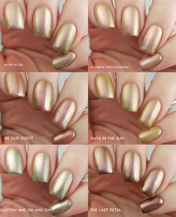Morgan Taylor Beauty and the Beast Collection swatches